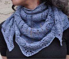 Free Pattern: Blue Jeans and Moon Beams Shawl - Myra Wood for Kollage Yarns Knit Cowl, Knitted Shawls, Crochet Scarves, Knit Poncho, Knit Or Crochet, Lace Knitting, Crochet Shawl, Shawl Patterns, Knitting Patterns Free