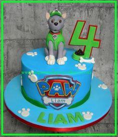 Paw Patrol Cake - Rocky - Cake by Mel_SugarandSpiceCakes Paw Patrol Birthday Cake, Cute Birthday Cakes, Paw Patrol Party, 4th Birthday, Torta Paw Patrol, Paw Patrol Cake Toppers, Rocky Pat Patrouille, Paw Patrol Rocky, Bounce House Parties