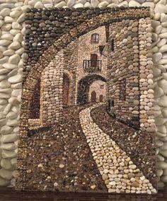 Kieselmosaik, à ‡ akà ± l taà ± Pebble art Pebblemosaic TaÅŸ sokak - Quilt Inspiration - Kunst Pebble Mosaic, Pebble Art, Mosaic Art, Mosaics, Stone Crafts, Rock Crafts, Arts And Crafts, Art Crafts, Art Rupestre