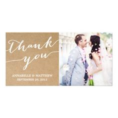 Wedding Thank You Photo Cards Featuring A Template And The White Words