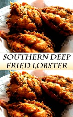 Lobster Dishes, Lobster Recipes, Fish Dishes, Seafood Dishes, Seafood Recipes, Cooking Recipes, Healthy Recipes, Lobster Food, Deep Fried Recipes