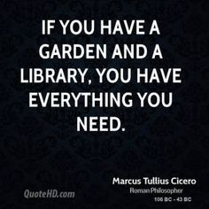 Cicero on Libraries.