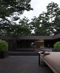 Project / 813 on Behance Modern Exterior House Designs, Dream House Exterior, Modern Architecture House, Modern House Design, Exterior Design, Architecture Design, Japan Modern House, Landscape Architecture, Forest House