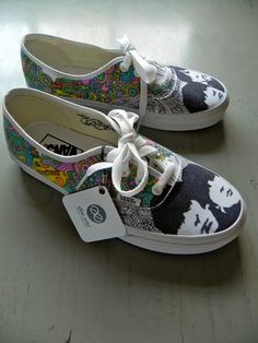 THE BEATLES YELLOW SUBMARINE VANS!? $125.00, via Etsy.----I'm dying. I want these. Oh my gosh.
