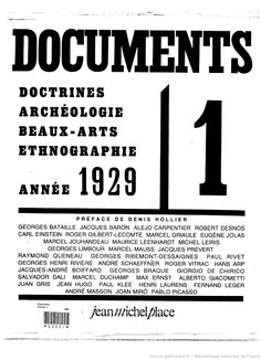 Full scan of Documents Vol. 1 (Paris. 1929) Ed. Georges Bataille