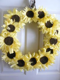 Small Fry & Co. : Coffee Filter Sunflower Wreath