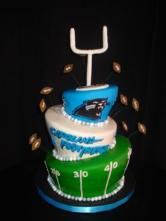 37 Best Carolina Cakes images in 2015 | Carolina panthers cake ...