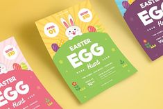 Easter Egg hunt Flyer Template by VectorVactory on @creativemarket