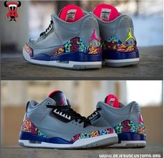 timeless design 26dd5 9636d DeJesus Customs kept it fairly clean by incorporating the colorful theme on  the Air Jordan 3 Retros.