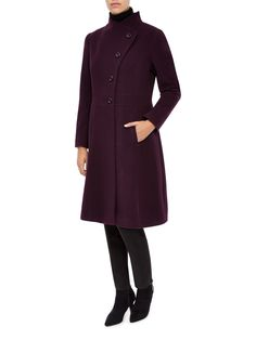 MID DARK RED COATMID DARK RED COAT | My Style | Pinterest | Dark ...