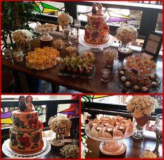 Rustic decor, dessert table, delicious petit desserts and chocolate truffles. Dessert Bars, Dessert Table, Sweet Buffet, Toddler Bibs, Chocolate Truffles, Rustic Decor, Create Your Own, Elegant, Desserts