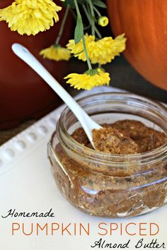 Homemade Pumpkin Spiced Almond Butter #PrimallyInspired