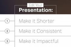 How to Trim Your Presentations