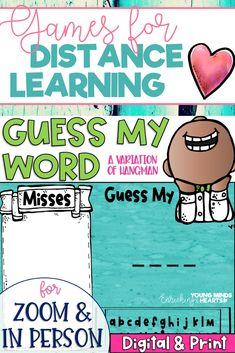 Guess My Word is similar to the classic, fun, and engaging game of Hangman. In this NO PREP game, students guess letters to try to ultimately guess the word, while you draw an object piece by piece to represent the letters they miss. If they guess the word before the object is finished being built, they win! This engaging game can be used as a brain break between lessons, an incentive for participation or a classroom reward! Click the link to check out this awesome game!