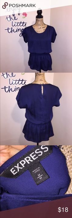 Royal Blue Express Top Worn a few times, no stains or rips. Ships within 24hrs except weekend! Express Tops Blouses