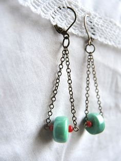 Moois van ' M(i)e': juwelen/jewelry - MAAK HET ZELF/ MAKE IT YOURSELF : project : schommelbellen/swinging earrings
