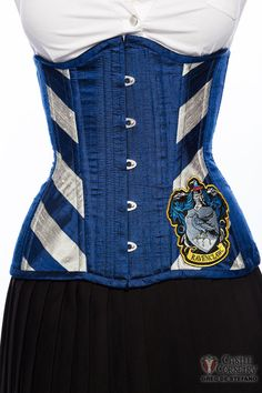 Hogwarts Ravenclaw Long Line Corset by CastleCorsetry on Etsy