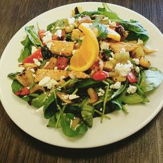 Happy Wine Wednesday! Today we have a divine Moroccan Chicken & Roasted Vegetable Salad with Feta! Paired with our amazing Tomato & Garlic Bisque! $1 off all delicious glasses of wine and 1/2 off all bottles #GhinisFrenchCafe #TucsonOriginalrestaurants