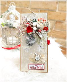 www.basiabartoszewicz.pl Chocolate Box, Cardmaking, Christmas Cards, Scrapbooking, Table Decorations, How To Make, Gifts, Home Decor, Noel