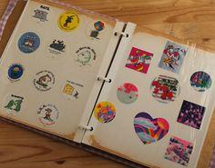Cool vintage 80's sticker album!!