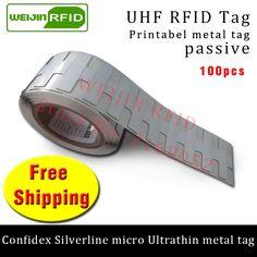 142.00$  Buy here - http://alipaw.shopchina.info/1/go.php?t=32814000974 - UHF RFID ultrathin metal tag confidex silverline micro 915m 868mhz M4QT EPC 100pcs free shipping printable PET passive RFID tag  #magazineonline