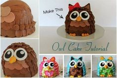 3D Owl Cake Recipe Instructions With Video
