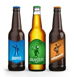BeardedDog Brewery – Beer Labels by Laurence Orr, via Behance