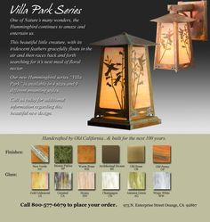 These are the coolest outdoor lighting fixtures and accessories.  Super high quality and craftsmanship from a good company!