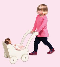 Guidecraft Doll Buggy White - G98124