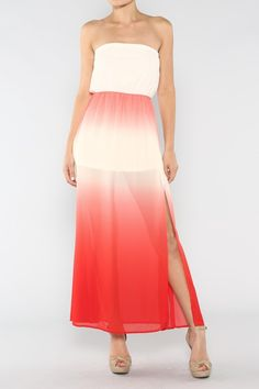 Strapless Ombre Dress