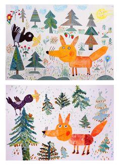 21 Ideas animal art projects for kids teaching Group Art Projects, Animal Art Projects, Winter Art Projects, Projects For Kids, Art Drawings For Kids, Drawing For Kids, Art For Kids, Art Lessons Elementary, Art Club