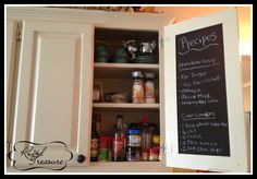 DIY Chalkboard Paint  Kitchen Cabinet Door Chalkboard (Great for a Menu Plan  Recipes)