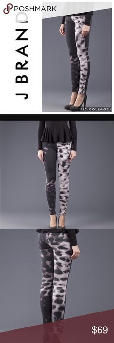 "J Brand Glacier Print Mid Rise Super Skinny Jeans J Brand Women's Grey Glacier Print Mid Rise Super Skinny Jeans.  Size 28. Worn once. Sold out everywhere.   Super cute. Waist: 16"" flat across front; rise: 8.5"". Inseam: 30"". Length: 37.5"". J Brand Jeans Skinny"