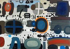 """Jan Tarasin, """"Zapis II"""", 1987, olej na płótnie, 95 x 133 cm"""