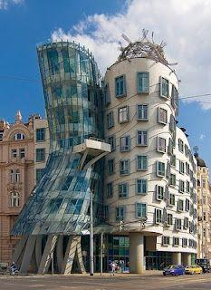In Prague. I've always loved this building.