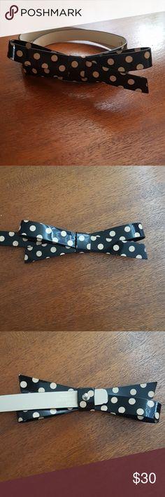 "Kate Spade Polka Dot Bow Belt Black and gold polka dot leather bow belt, never worn. Adjustable from 26""-30"" kate spade Accessories Belts"