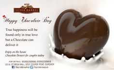 We wish you all a very Happy Chocolate Day. Say it best and show the sweetness of your bond at 7 Barrel Brew Pub today. Enjoy on the house chocolate dessert all day long... #chocolateday #sayitbest #chocolatelove #freedessert