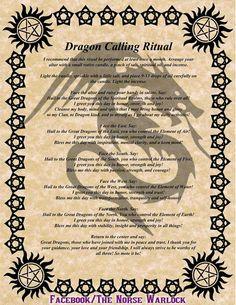 Dragon calling ritual