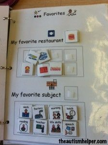 Visual Questions {students answer the question using pictures - great way to work on question answering for students who are nonverbal and work on making choices}