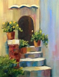 """Daily Paintworks - """"No Vacancy"""" - Original Fine Art for Sale - © Libby Anderson"""
