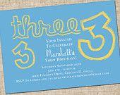 Printable Boy Birthday Invitation,DIY  Personalized Digital Design Invite, Customize Colors, Customize Age