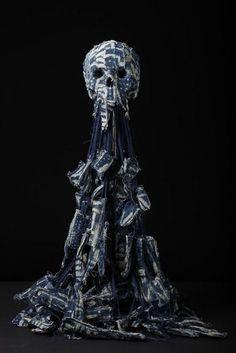 Art skull sculptures by Jim Skull