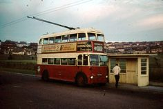Hollingbury [Carden Avenue] Terminus - 1961 Brighton Sussex, Brighton And Hove, Worthing, Bus Coach, Sight & Sound, Busses, Coaches, Vintage Photos, Britain