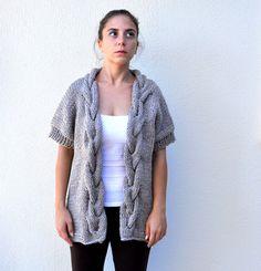 Damen Pullover Cardigan Jacke Chunky überlange von reflectionsbyds