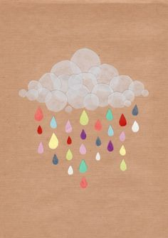 Clouds with Happy tears! YES :)