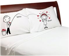 Personalized gifts are especially fun to give and receive! The cute stick people in the design on these Fishing For Love Personalized Pillow Covers, King Size are perfect for couples who love fishing. The covers are made from super soft, moisture wicking polyester microfiber and come in a ready-to-give decorative organza bag. They are available to fit standard sized pillows too!