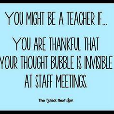 "Find more Teacher Humor at the Teacher Next Door's ""Teacher Humor""… School Teacher, School Quotes, School Memes, Teacher Humour, Teacher Sayings, Funny Teacher Memes, Teacher Stuff, English Teacher Humor, Messages"