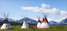 Blackfeet Teepees, St. Mary, Montana, 2009 Photo by Harry Palmer