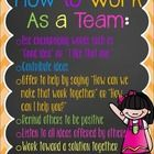 Cute poster to enforce positive teamwork in your classroom! :)  Enjoy!! Would love your feedback!! ...