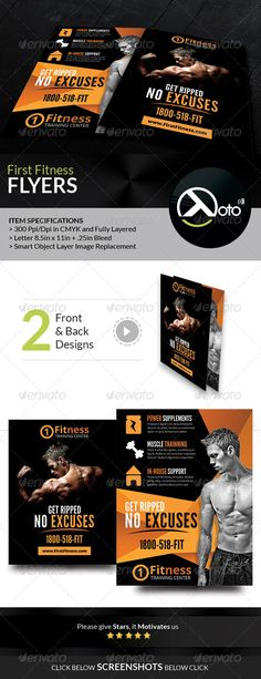 First Fitness Body Weight Training Flyers